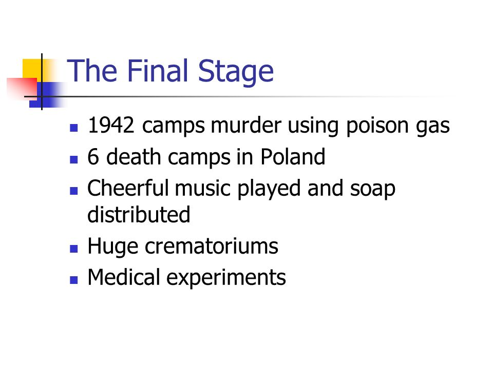 The Final Stage 1942 camps murder using poison gas