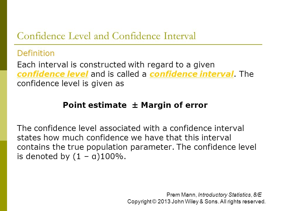 how to express mean with confidence interval statistics