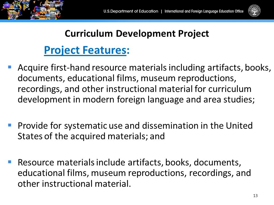curriculum and material development Development principles and procedures which teachers and materials writers  could apply to the actual  teaching point selected from a syllabus 2 make use  of.