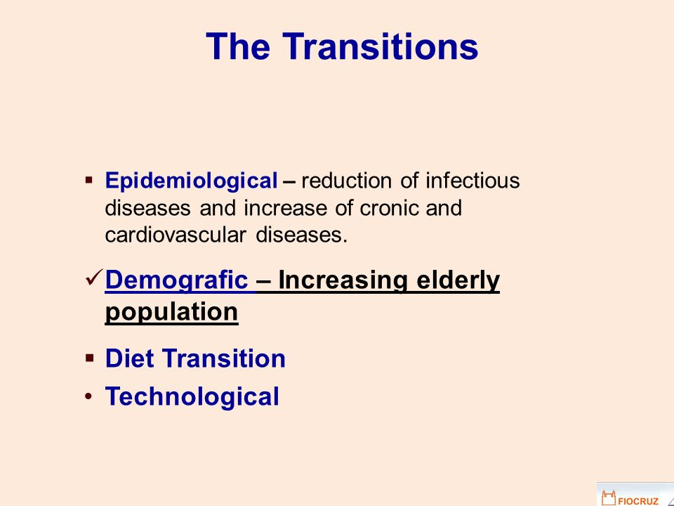The Transitions Demografic – Increasing elderly population