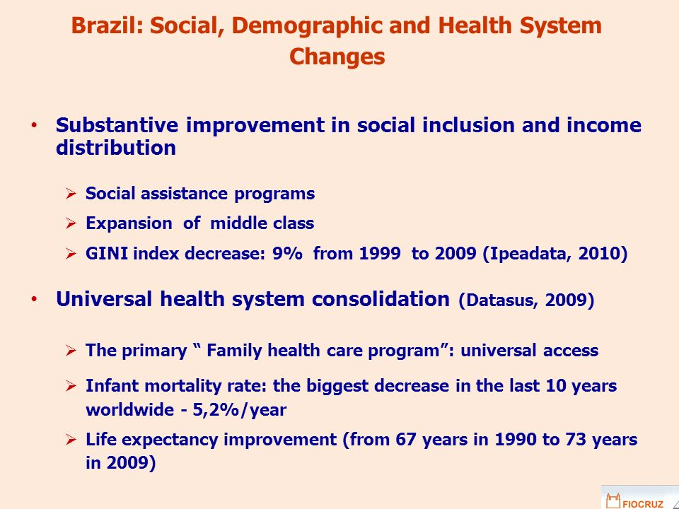 Brazil: Social, Demographic and Health System Changes