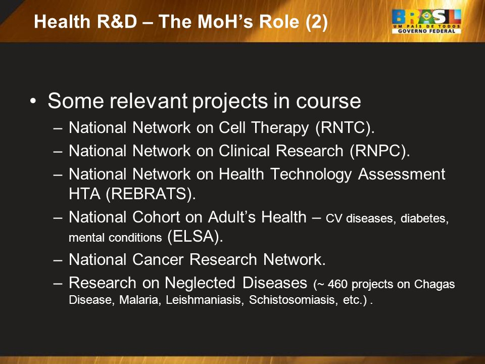 Health R&D – The MoH's Role (2)