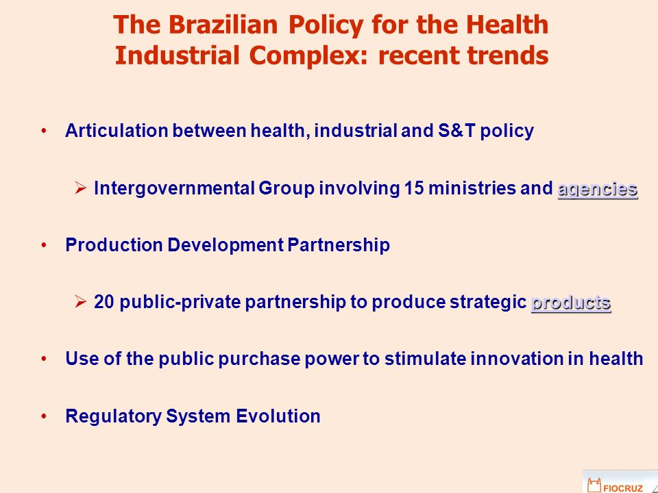 The Brazilian Policy for the Health Industrial Complex: recent trends
