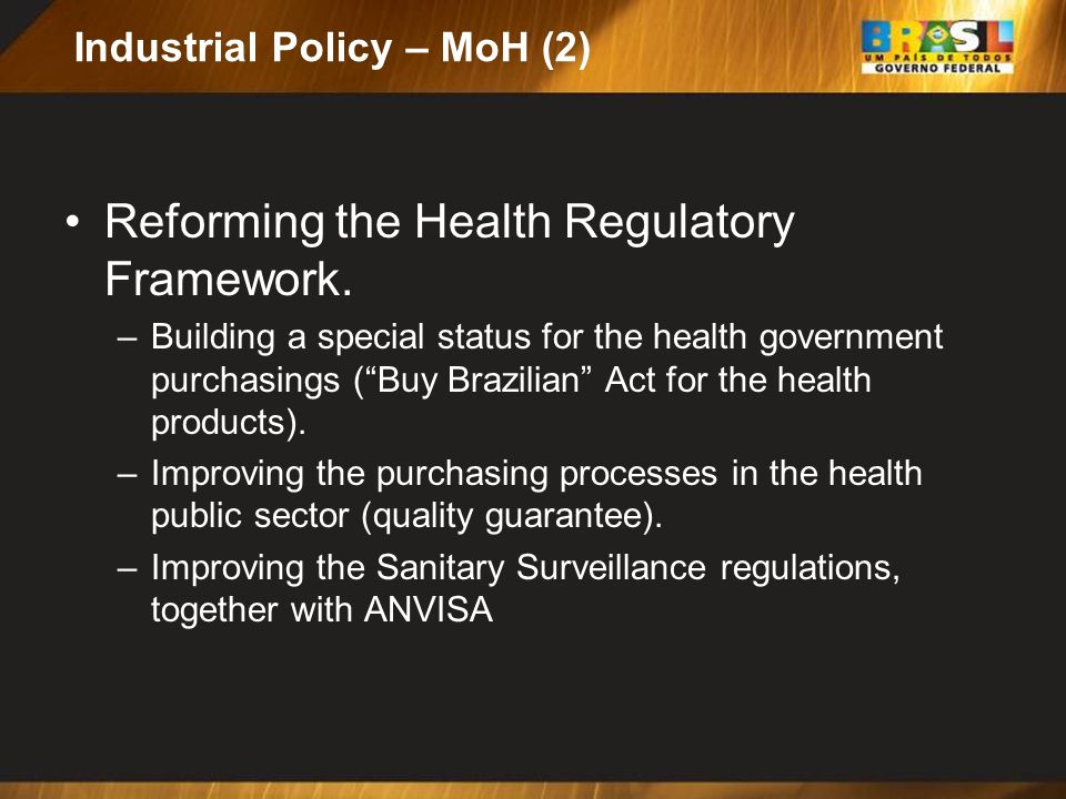 Industrial Policy – MoH (2)