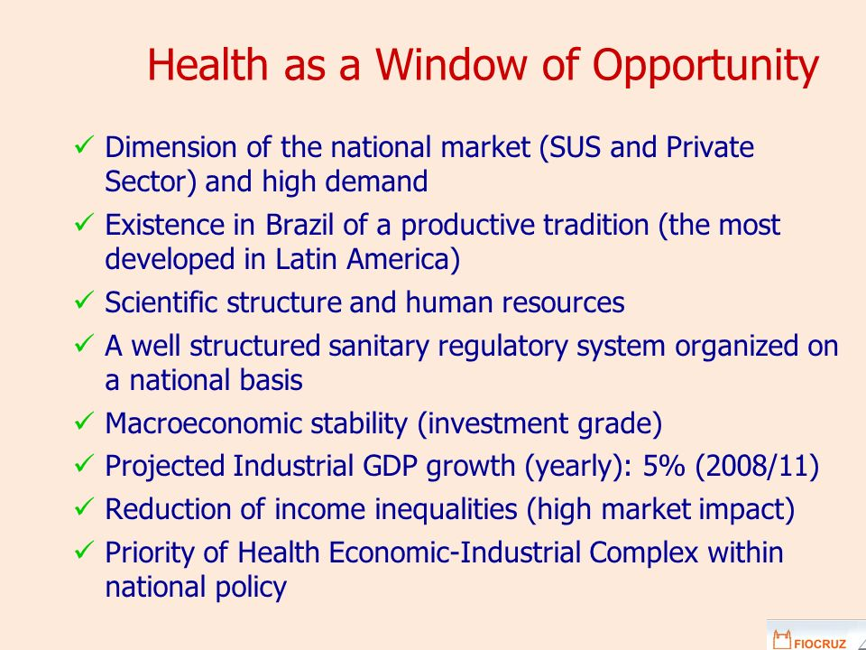 Health as a Window of Opportunity