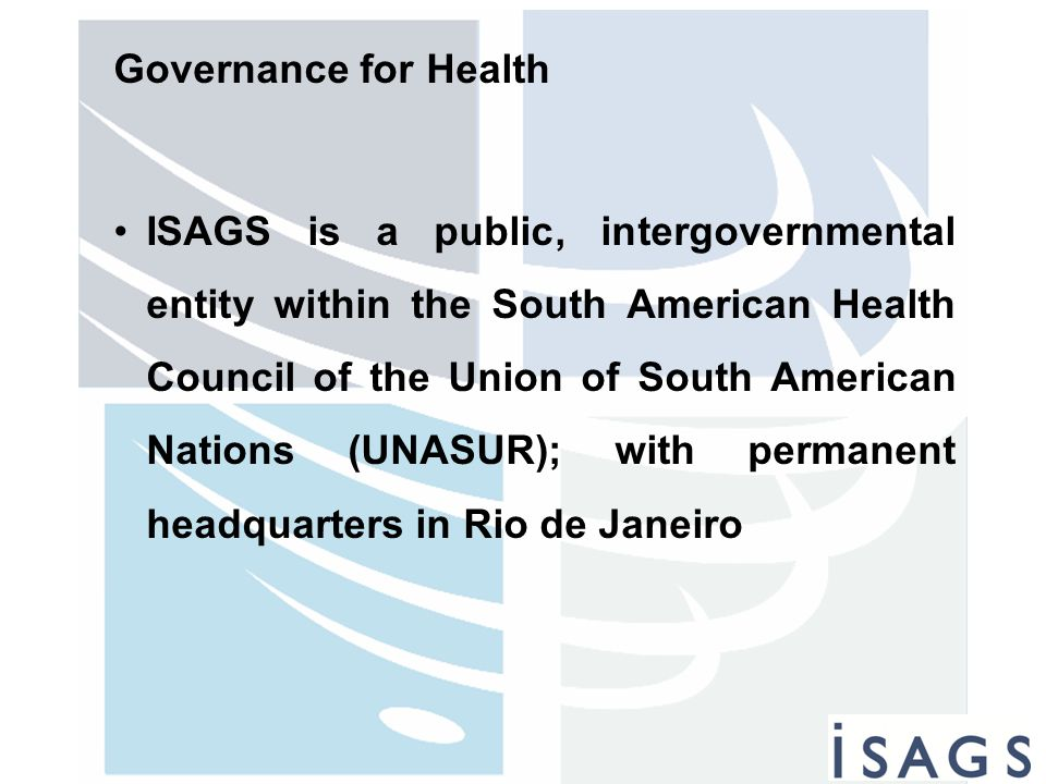 Governance for Health