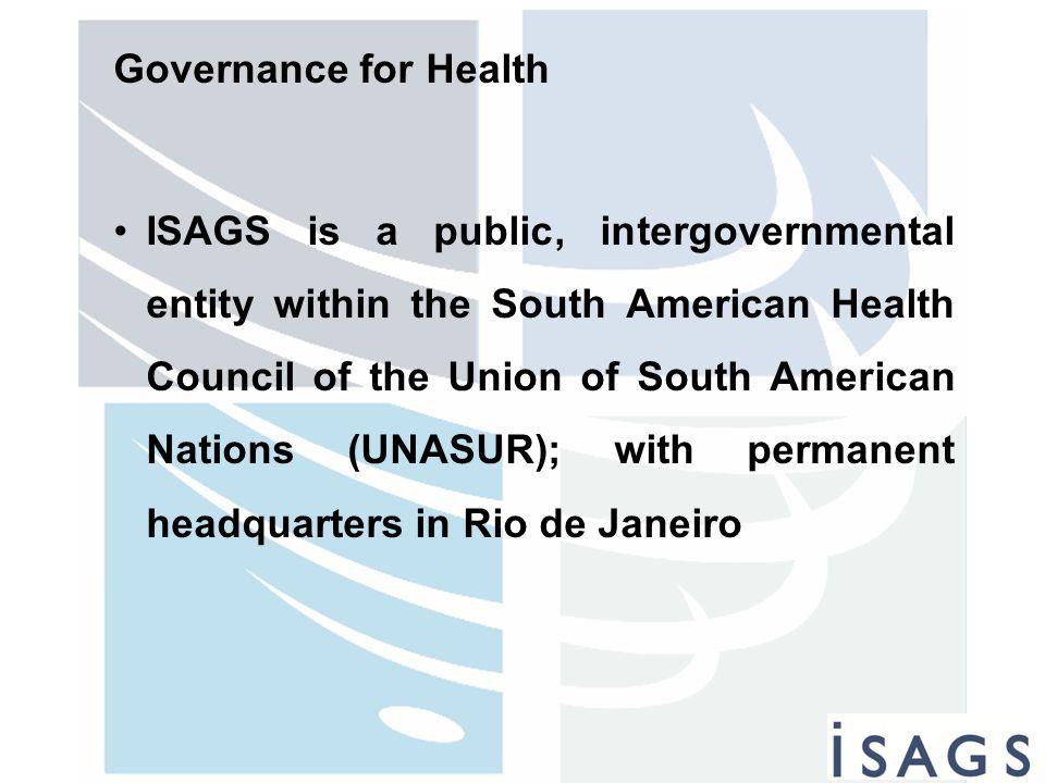 Governance for Health