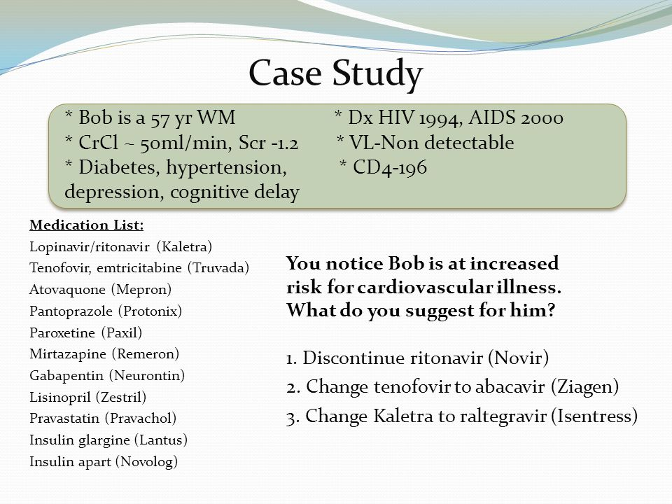 hiv case study patients Case studies: promoting hiv testing case studies that focus on promoting hiv testing address cultural gaps in trust and other socio-ethnic barriers of patients.