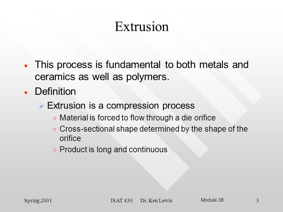 3 Extrusion ...