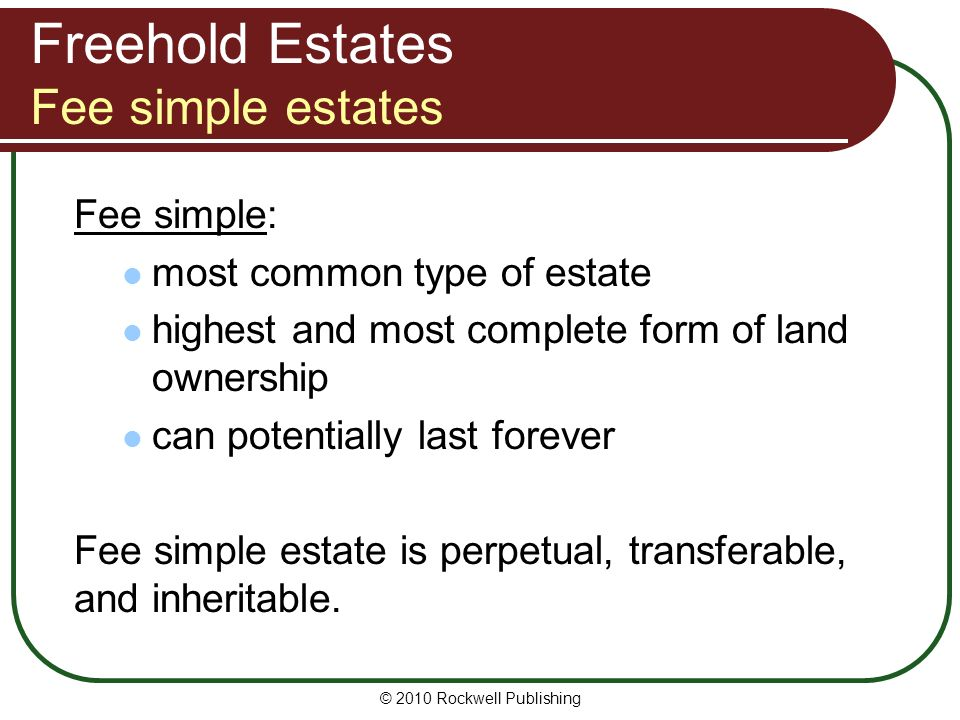 Most Common Type Of Leasehold Interest In Real Property
