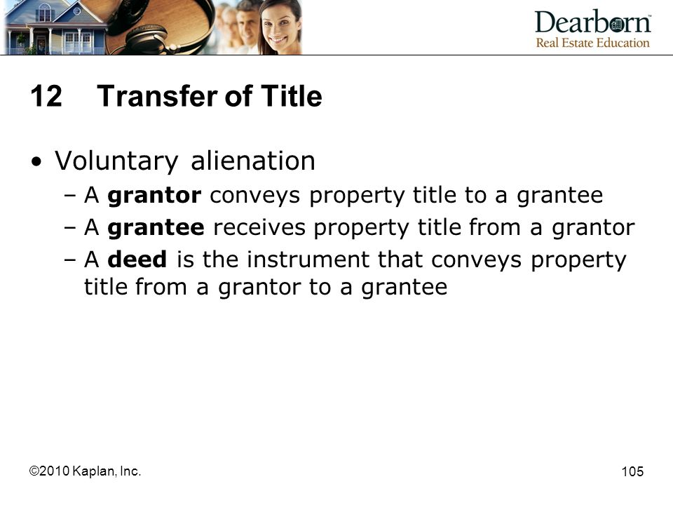 12 Transfer of Title Voluntary alienation