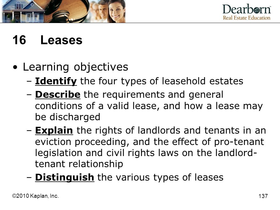 16 Leases Learning objectives