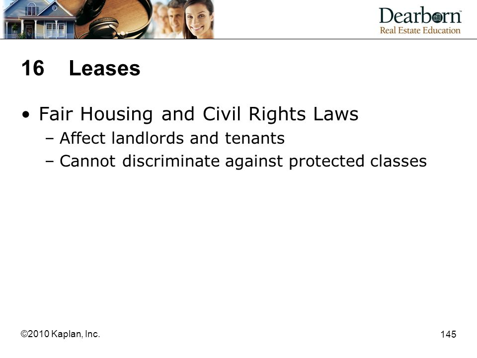 16 Leases Fair Housing and Civil Rights Laws