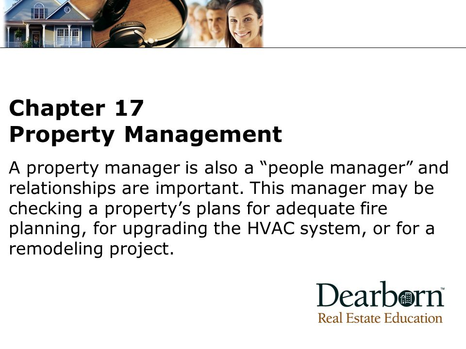 Chapter 17 Property Management