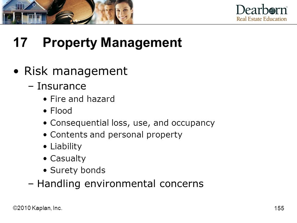 17 Property Management Risk management Insurance