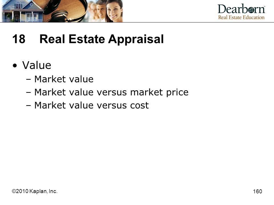18 Real Estate Appraisal Value Market value