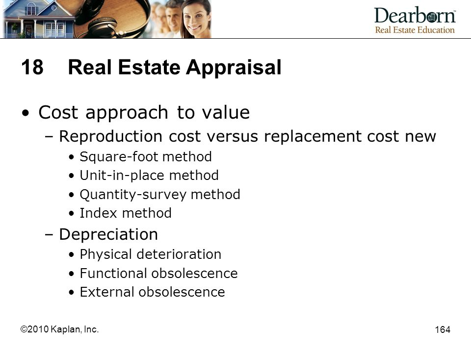 18 Real Estate Appraisal Cost approach to value