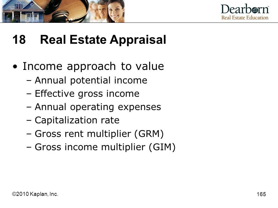 18 Real Estate Appraisal Income approach to value
