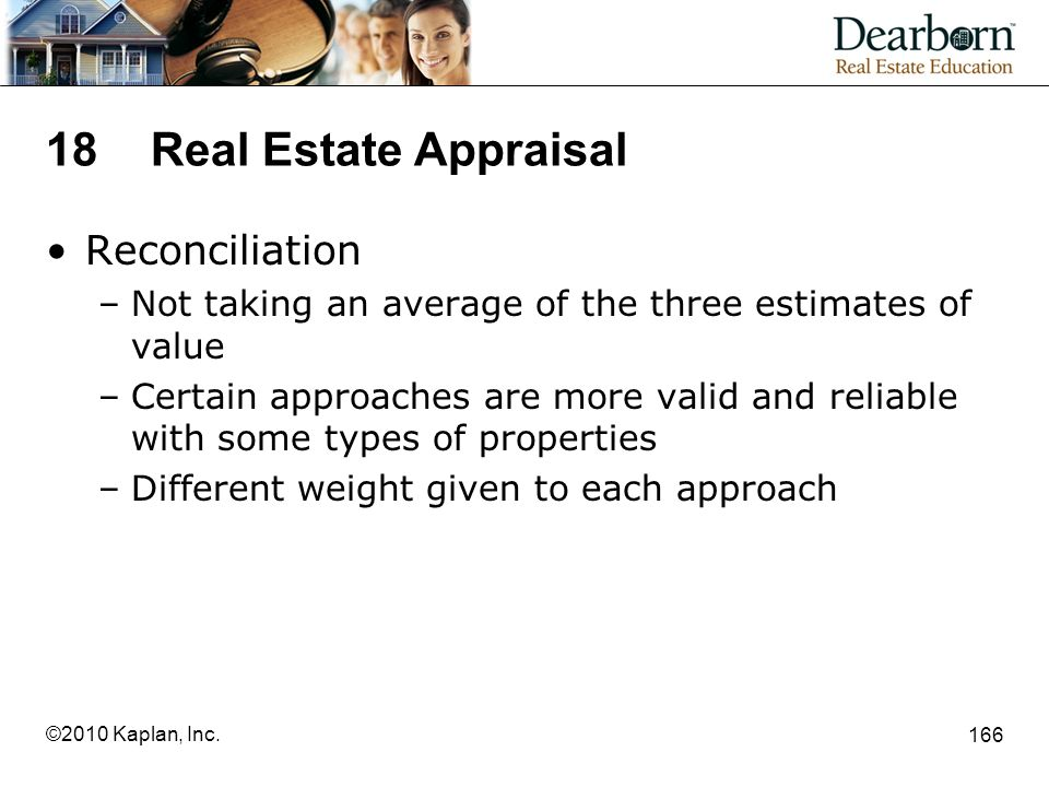 18 Real Estate Appraisal Reconciliation