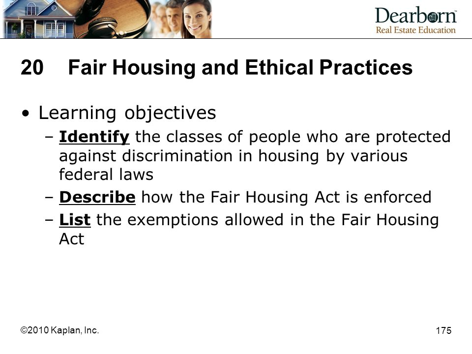 20 Fair Housing and Ethical Practices