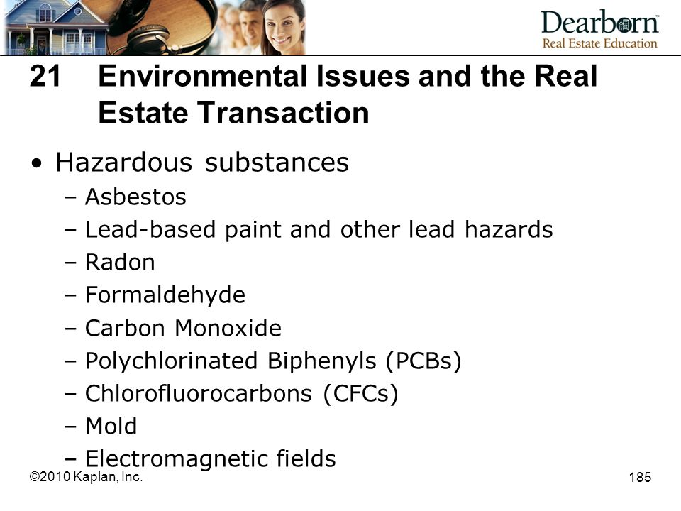 21 Environmental Issues and the Real Estate Transaction