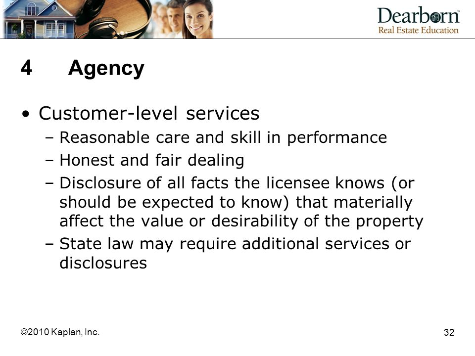 4 Agency Customer-level services