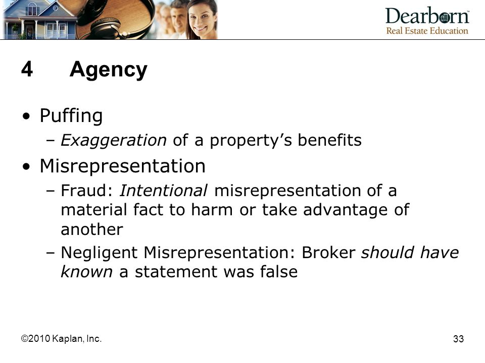 4 Agency Puffing Misrepresentation