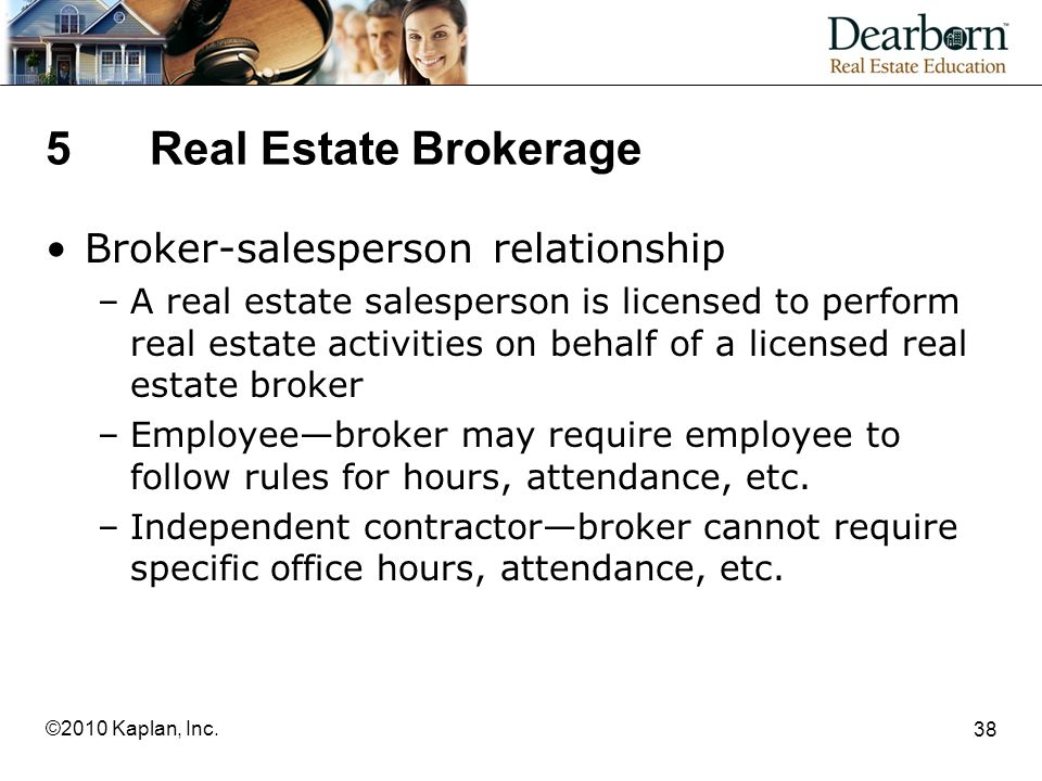 5 Real Estate Brokerage Broker-salesperson relationship