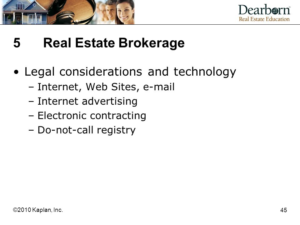 5 Real Estate Brokerage Legal considerations and technology