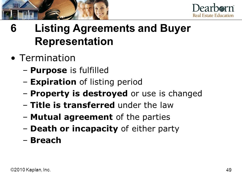 6 Listing Agreements and Buyer Representation