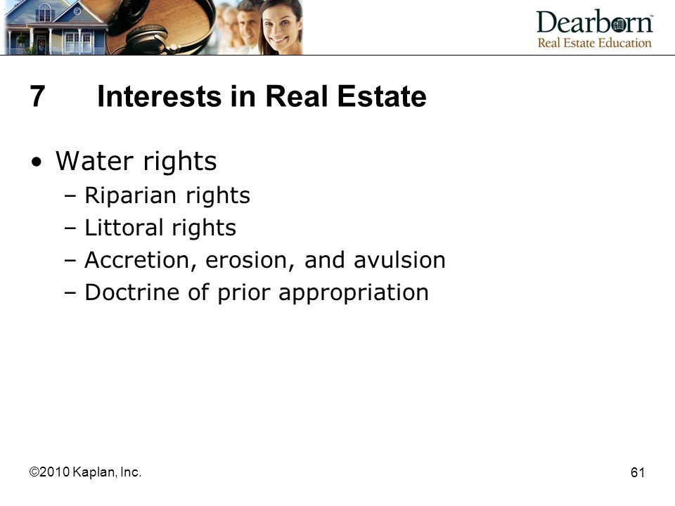 7 Interests in Real Estate