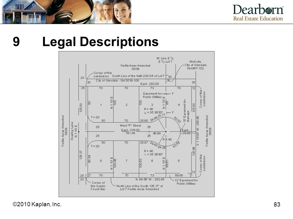 9 Legal Descriptions ©2010 Kaplan, Inc.
