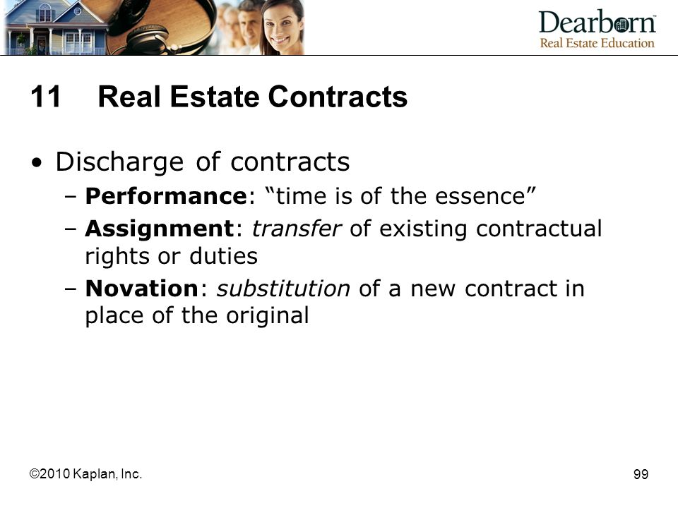 11 Real Estate Contracts Discharge of contracts