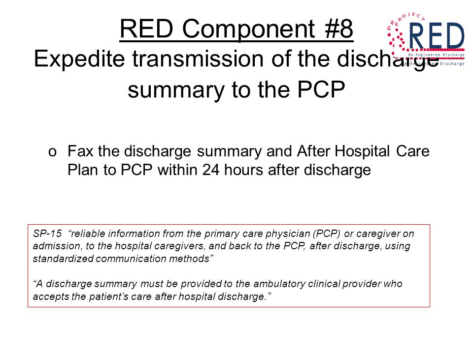 Project Red: The Reengineed Discharge Reducing 30 Day All Cause