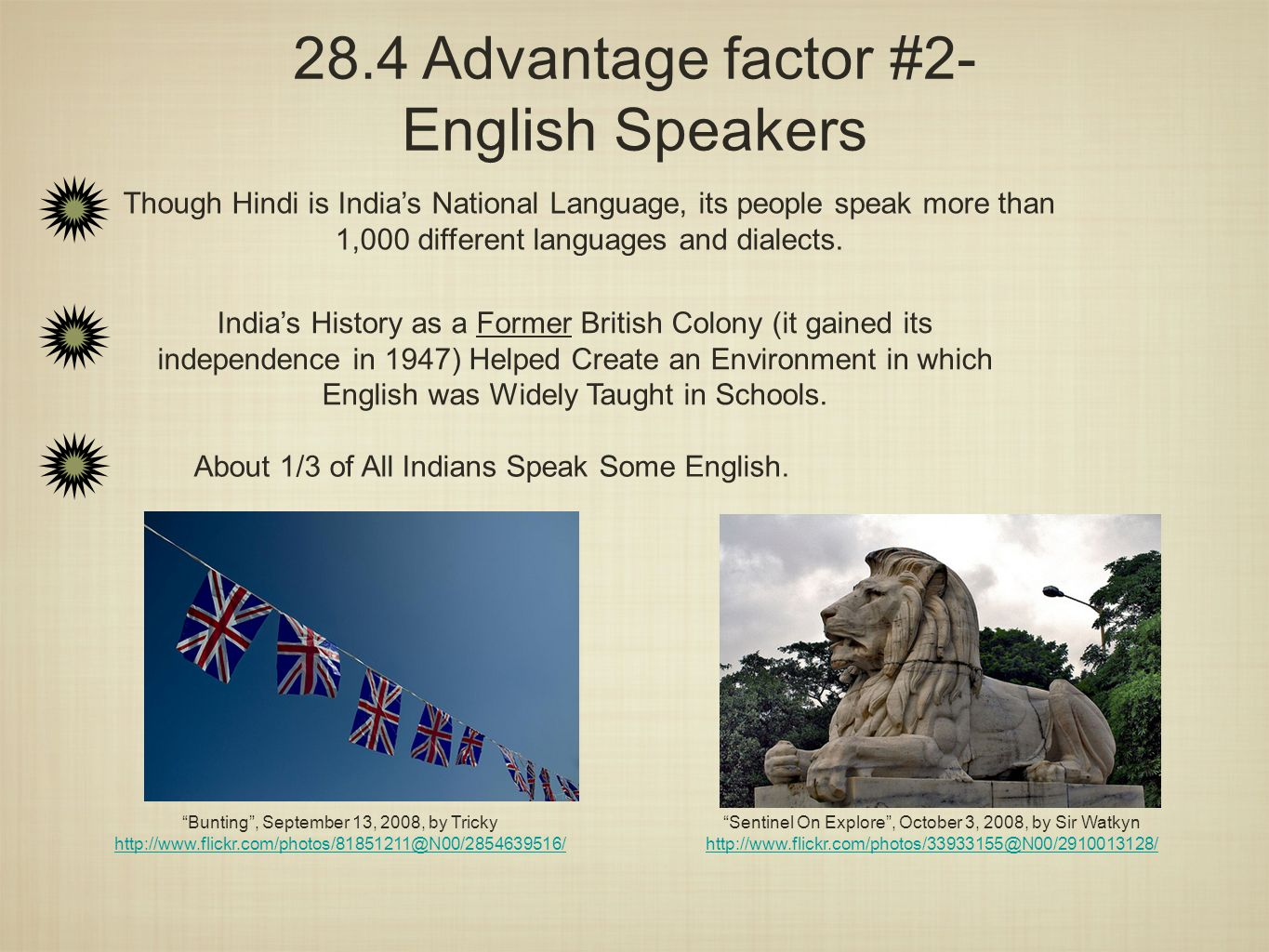 28.4 Advantage factor #2- English Speakers