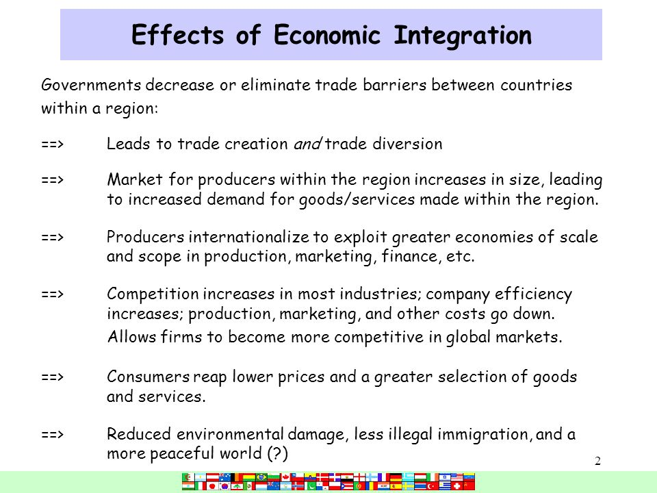 economic integration and global markets to Factors affecting global marketing integration driving forces technology culture market needs cost free markets economic integration peace management.