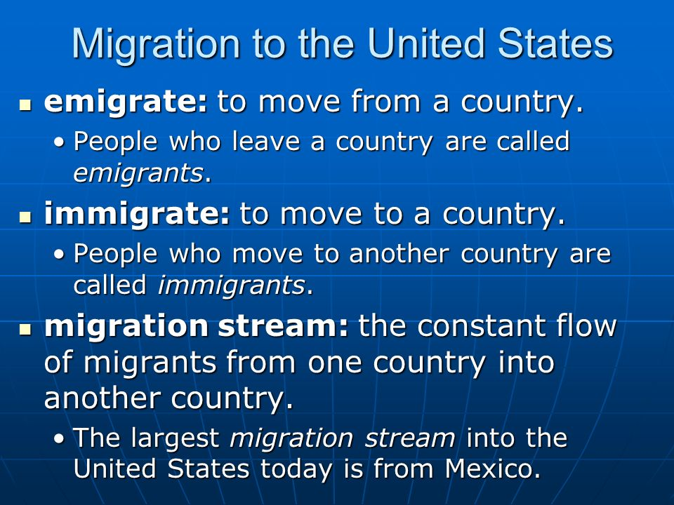 the history of migration of mexicans into the united states and canada This chapter will be very short to pass into the mexican migration from 1900  the history of the united states  and mexicans to become united states.