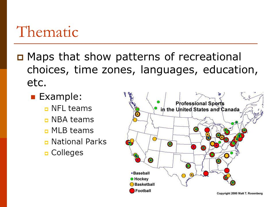 Geography Types Of Maps Ppt Download - Us map nba teams
