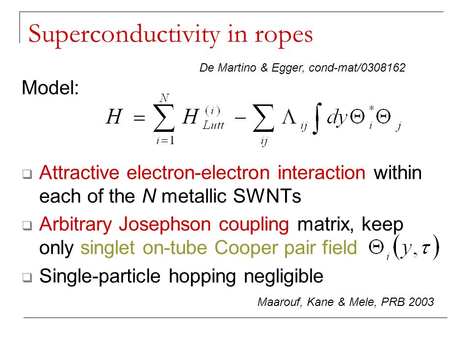 Superconductivity in ropes