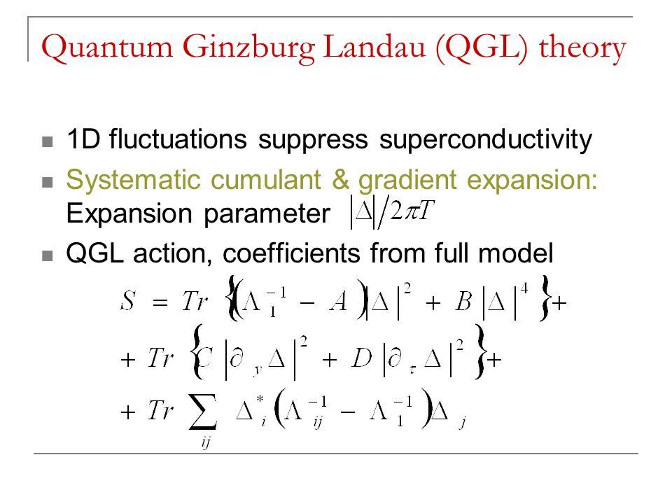 Quantum Ginzburg Landau (QGL) theory