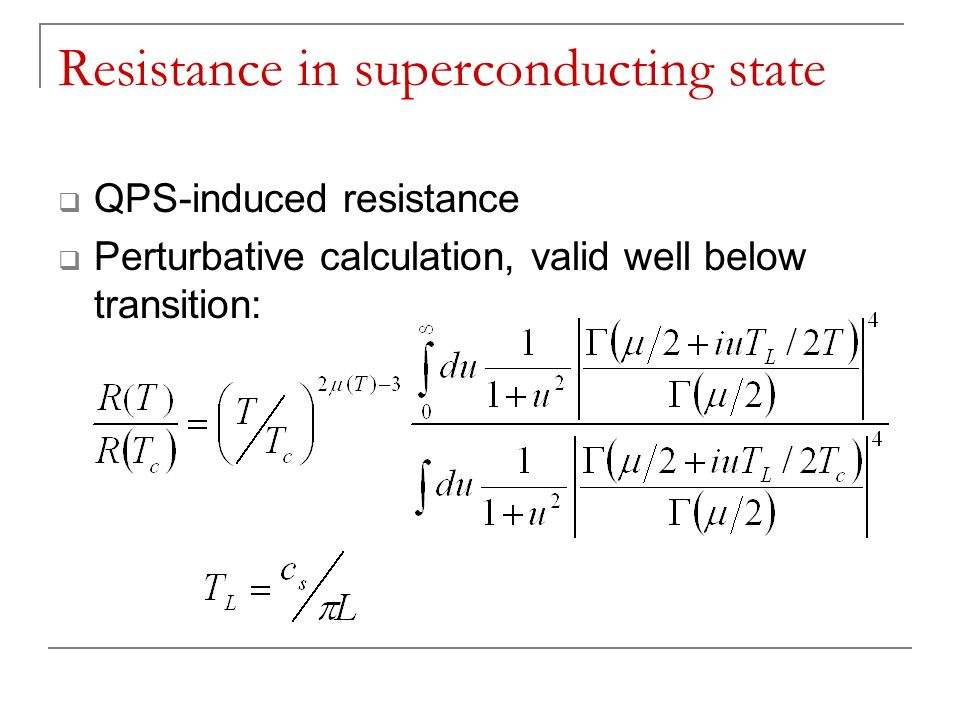 Resistance in superconducting state