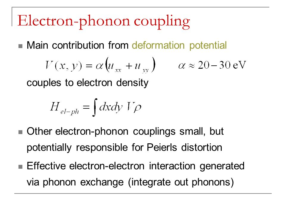 Electron-phonon coupling