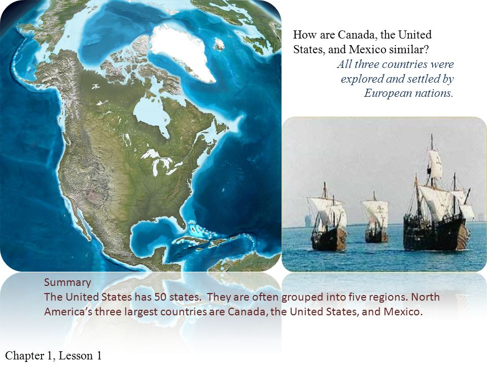 States and regions describe the relative location of the five how are canada the united states and mexico similar sciox Choice Image
