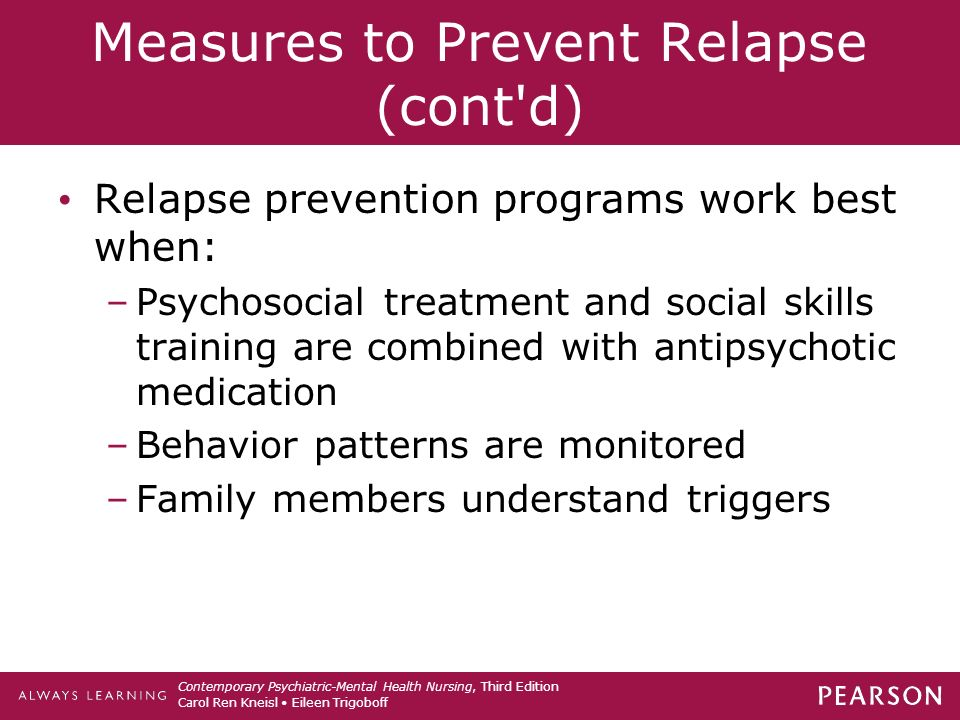 compare and contrast relapse prevention strategies Study cmhc561 dependency and addictions from university of phoenix compare and contrast clinical treatment strategies and relapse prevention.