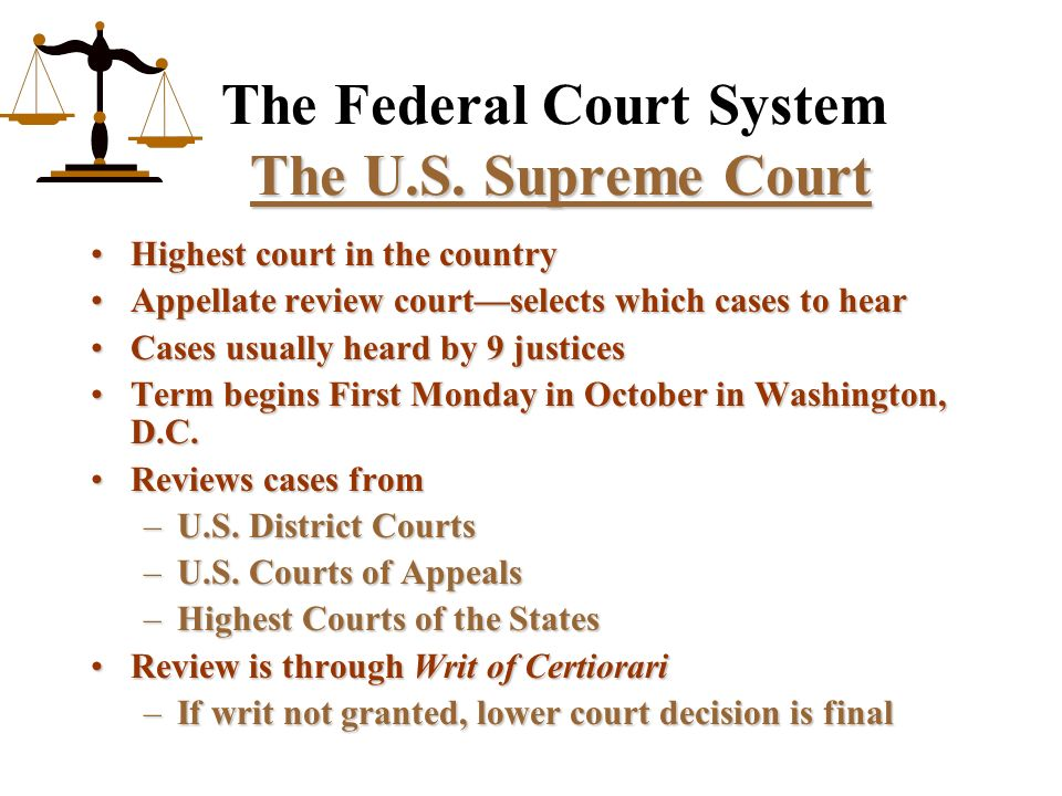 an analysis of federal courts the system that shagged me Get breaking news alerts from the washington post turn on the justices said the lower courts were too restrictive in federal probe into trump's lawyer.
