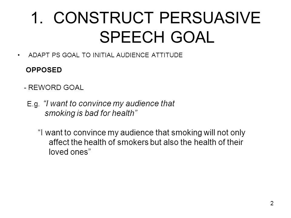 persuasive speaking ppt video online  construct persuasive speech goal
