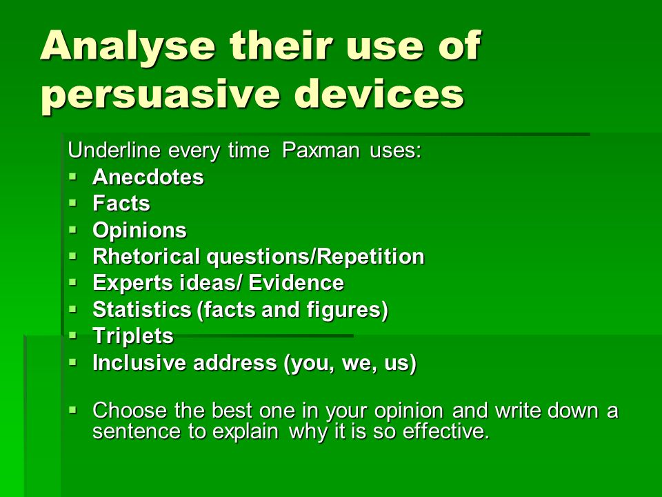 how to explain rhetorical devices in sentences