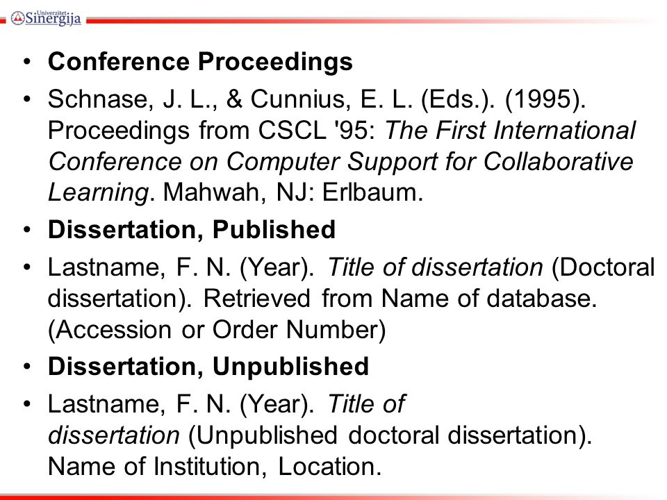 apa citing doctoral dissertation This guide introduces the apa referencing style with examples of citation styles  apa referencing style guide  title of doctoral dissertation or master's.