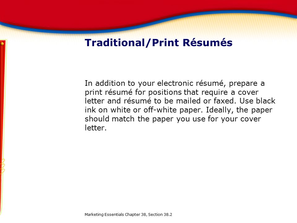 should a cover letter be on resume paper - chapter 38 finding and applying for a job ppt download