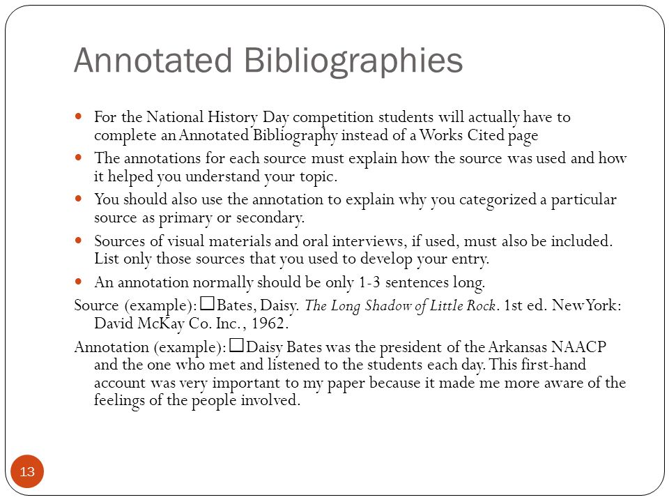 bibliography for national history day History day california (nhd-ca) competition for students throughout the state.